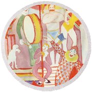 Circus Round Beach Towel