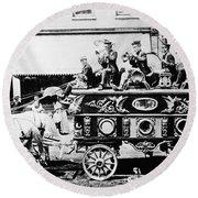Circus Bandwagon, 1900 Round Beach Towel
