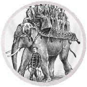 Circus: Elephant, C1901 Round Beach Towel