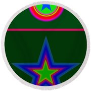 Circus Green Round Beach Towel