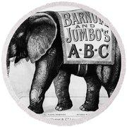 Circus: Jumbo, C1882 Round Beach Towel