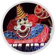 Circus Neons Round Beach Towel