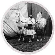 Circus: Rider, C1904 Round Beach Towel