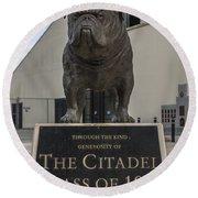 Citadel Bulldog Round Beach Towel