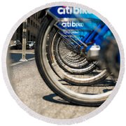 Citibike Manhattan Round Beach Towel