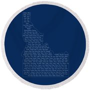 Cities And Towns In Idaho White Round Beach Towel