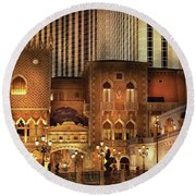 City - A Touch Of Sicily Round Beach Towel
