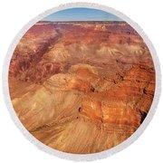 City - Arizona - Grand Canyon - The Great Grand View Round Beach Towel