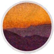 City - Arizona - Rolling Hills Round Beach Towel