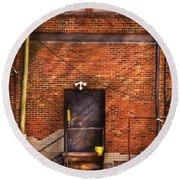 City - Door - The Back Door  Round Beach Towel