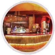 City - Vegas - Ny - The City Bar Round Beach Towel