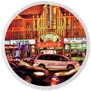 City - Vegas - O'sheas Casino Round Beach Towel