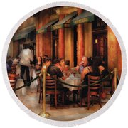 City - Venetian - Dining At The Palazzo Round Beach Towel