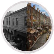 City - Baltimore Md - Traffic On Light Street - 1906 - Side By Side Round Beach Towel