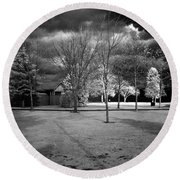 City Beach In Infrared Round Beach Towel