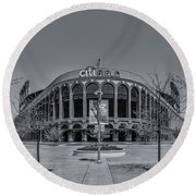 City Field - New York Mets Round Beach Towel