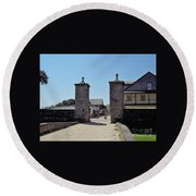 City Gate Of St Augustine Round Beach Towel