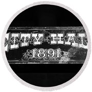 City Hall 1891 Round Beach Towel