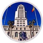 City Hall La Round Beach Towel