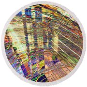City In Motion 29 Round Beach Towel
