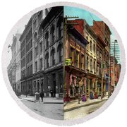 City - Knoxville Tn - Gay Street 1903 - Side By Side Round Beach Towel