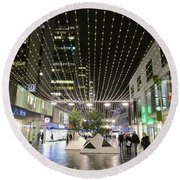 City Lights 3 Round Beach Towel