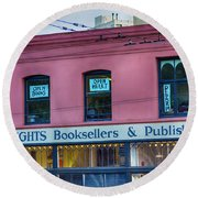City Lights Booksellers Round Beach Towel