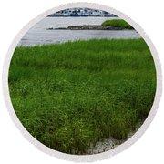 City Marina Marsh View Round Beach Towel