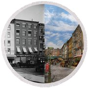 City - New York Ny - Fraunce's Tavern 1890 - Side By Side Round Beach Towel