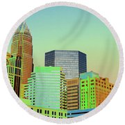 City Of Colors Round Beach Towel by Karol Livote
