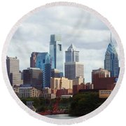 City Of Philadelphia Round Beach Towel