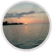 City Pier Holmes Beach Bradenton Florida Round Beach Towel