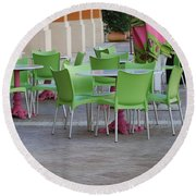 City Place Seats Round Beach Towel