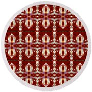 City Red Round Beach Towel