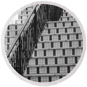 City Stairs II Round Beach Towel