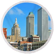 City View Round Beach Towel