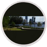 City Way Round Beach Towel