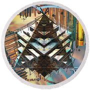 Cityline Abstract IIi Round Beach Towel