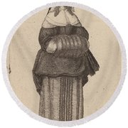Ciuis Aut Mercatoris Antuerpiensis Vxor Round Beach Towel