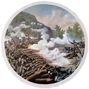 Civil War, 1864 Round Beach Towel