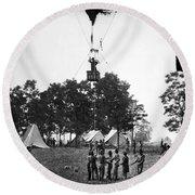 Civil War: Balloon, 1862 Round Beach Towel
