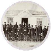 Civil War: Band, 1865 Round Beach Towel