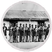 Civil War: Black Troops Round Beach Towel