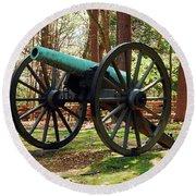 Civil War Cannon Round Beach Towel