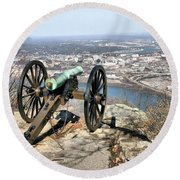 Civil War Cannon Round Beach Towel