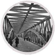 Civil War - Chain Bridge Round Beach Towel