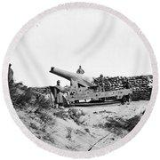 Civil War: Fort Fisher, 1865 Round Beach Towel