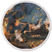 Civil War: Fort Sumter 1861 Round Beach Towel