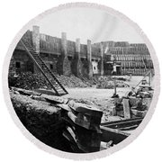 Civil War: Fort Sumter Round Beach Towel