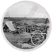 Civil War: Fortifications Round Beach Towel